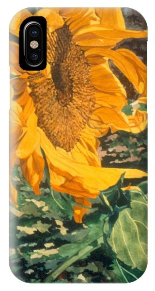 Sunflower Watercolor Painting Beautiful Flowers Sun Flower Garden Art Floral Artist K. Joann Russell IPhone Case