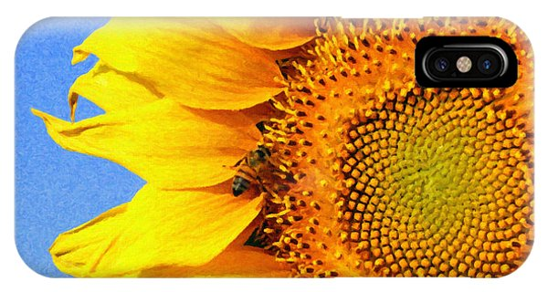 Sunflower With Bee IPhone Case