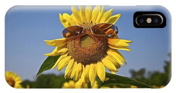 Sunflower With Sunglasses IPhone Case