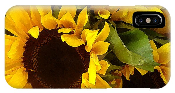 Sunny iPhone Case - Sunflowers by Amy Vangsgard