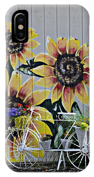 Sunflowers And Bicycle IPhone Case