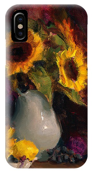Sunflowers And Porcelain Still Life IPhone Case