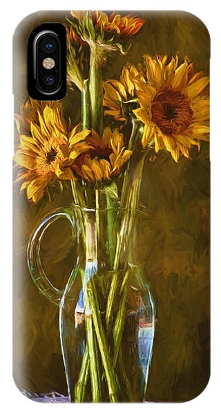 Sunflowers And Vase IPhone Case