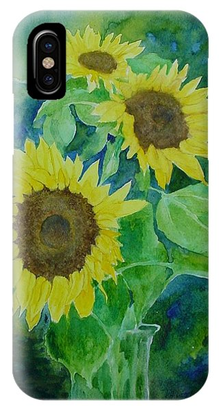 Sunflowers Colorful Sunflower Art Of Original Watercolor IPhone Case