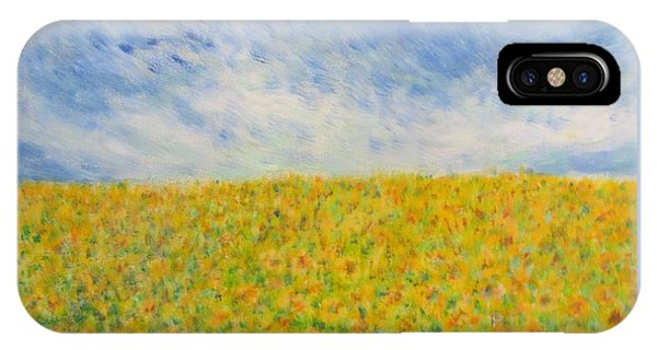 Sunflowers  Field In Texas IPhone Case