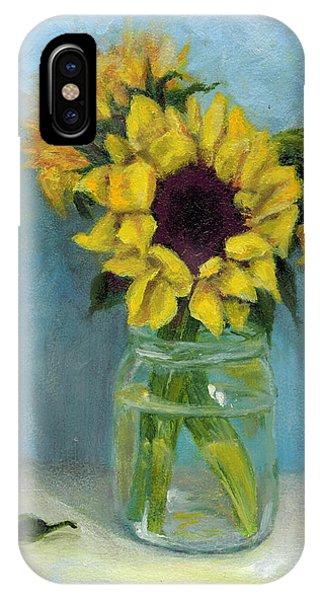 Sunflowers In Mason Jar IPhone Case