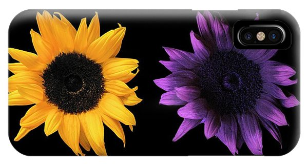 Sunflowers In Uv And Daylight IPhone Case