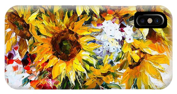 iPhone Case - Sunflowers Of Happiness New by Leonid Afremov