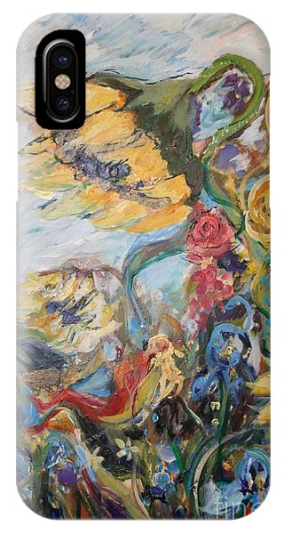 Sunflowers On A Windy Day IPhone Case
