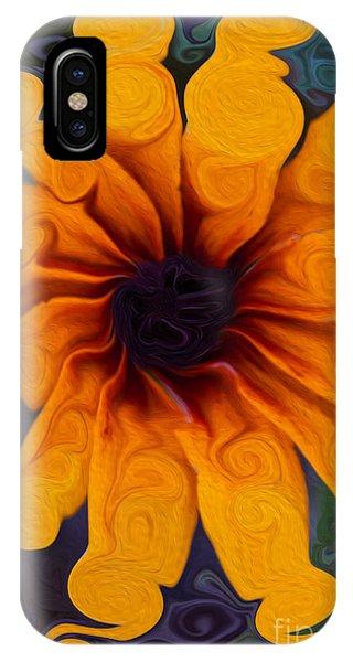 Sunflowers On Psychadelics IPhone Case