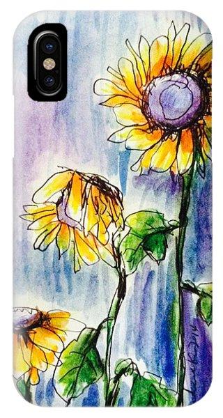 Sunflowers On Rainy Day IPhone Case