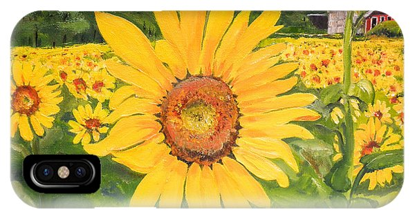 Sunflowers - Red Barn - Pennsylvania IPhone Case