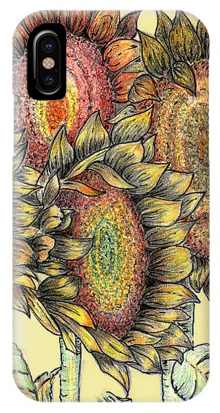 Sunflowers Revisited IPhone Case