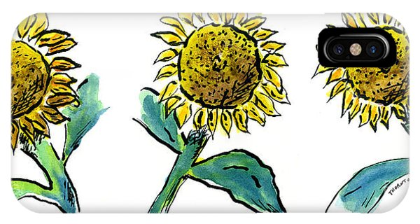 Sunflowers Trio IPhone Case