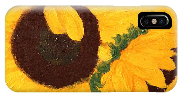 Sunflowers Two IPhone Case