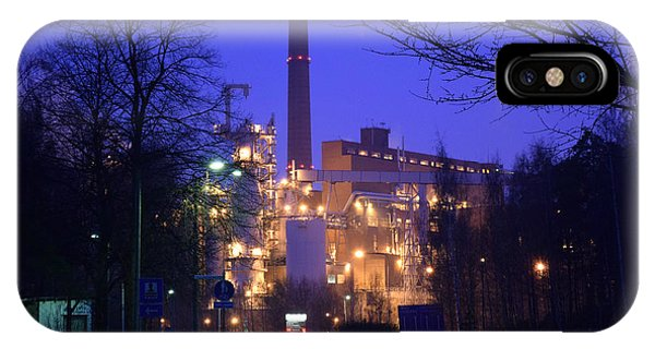 Sunila Pulp Mill By Rainy Night IPhone Case