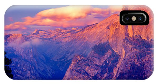 Sunlight Falling On A Mountain, Half IPhone Case