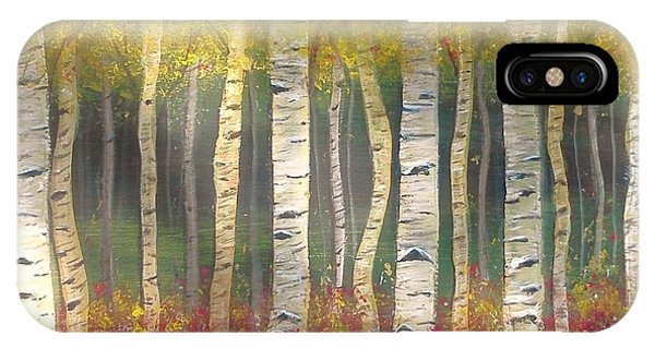 Sunlight On Aspens IPhone Case