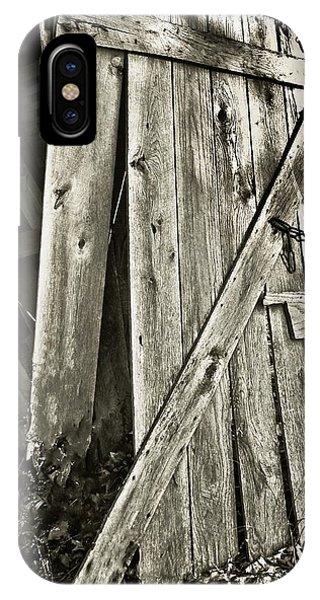 Sunlit Barn Door IPhone Case
