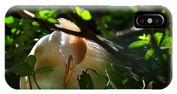 Geo iPhone Case - Sunlit Egret by Laura Fasulo
