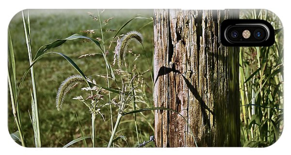 Sunlit Fence Post - 2 IPhone Case