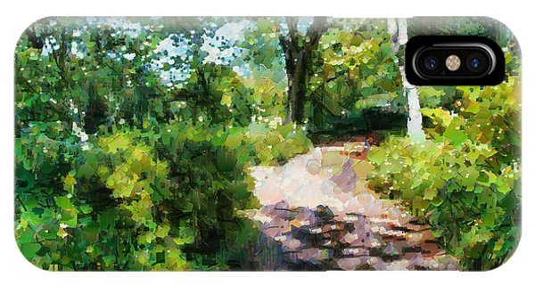 Sunlit Garden Path IPhone Case