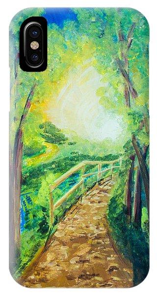 Sunlit Path IPhone Case