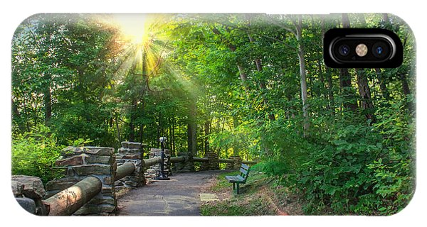 Sunlit Path IPhone Case