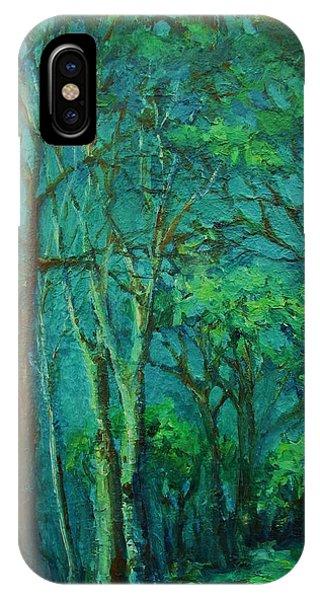 Sunlit Woodland Path IPhone Case