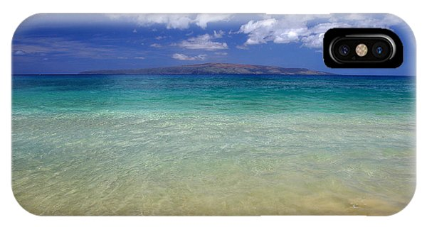IPhone Case featuring the photograph Sunny Blue Beach Makena Maui Hawaii by Pierre Leclerc Photography