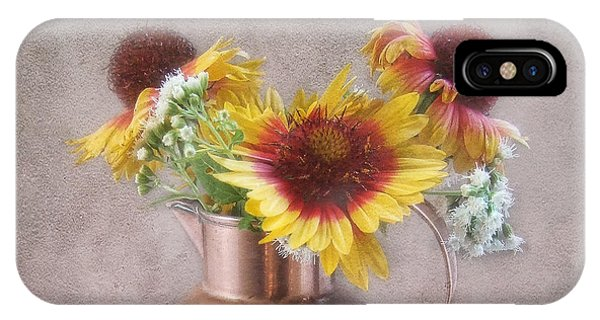 Sunny Treasure Flowers In A Copper Jug IPhone Case