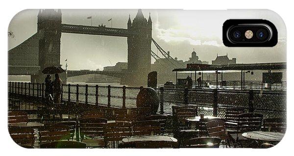 Sunny Rainstorm In London England IPhone Case