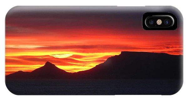 Sunrise Over Table Mountain IPhone Case