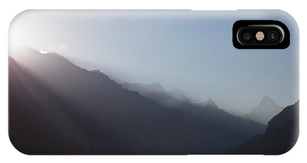 Sunrise Above Gangotri IPhone Case
