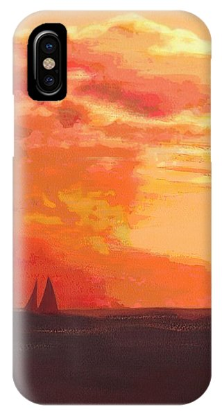 Sunrise And Sails Emerald Isle North Carolina IPhone Case
