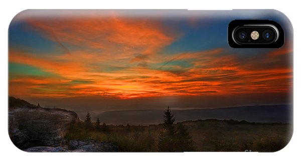 IPhone Case featuring the photograph Sunrise At Bear Rocks In Dolly Sods by Dan Friend