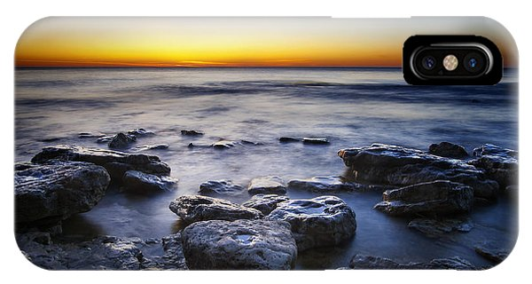Dawn iPhone Case - Sunrise At Cave Point by Scott Norris