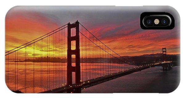 Sunrise Over The Golden Gate Bridge  IPhone Case