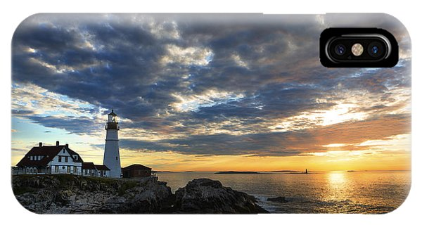 Sunrise At Portland Head Light IPhone Case