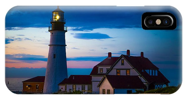 Lighthouse iPhone Case - Sunrise At Portland Head Lighthouse by Diane Diederich