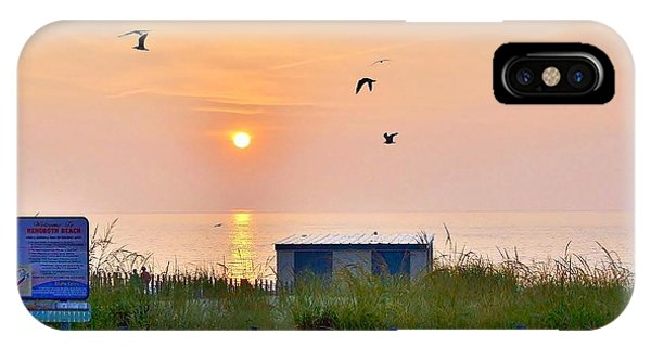 Sunrise At Rehoboth Beach Boardwalk IPhone Case
