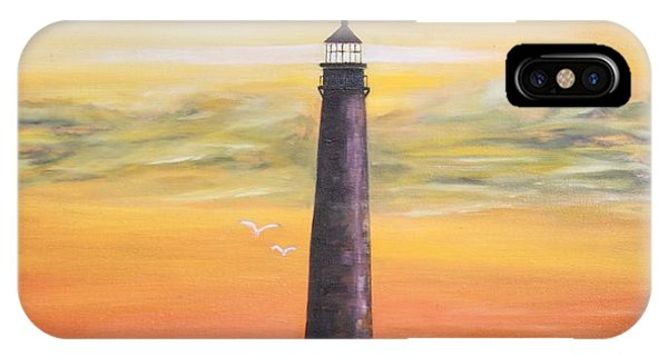 Sunrise At Sand Island Lighthouse IPhone Case