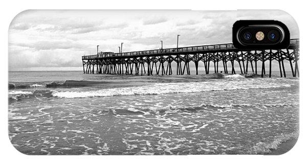 iPhone Case - Sunrise At Surfside Bw by Barbara McDevitt