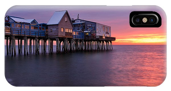 Orchard Beach iPhone Case - Sunrise At The Pier by Michael Blanchette