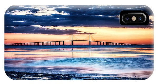 Sunrise At The Skyway Bridge Hdr Dec 2010 IPhone Case