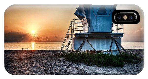 Sunrise At Vero Beach Hdr 3 IPhone Case