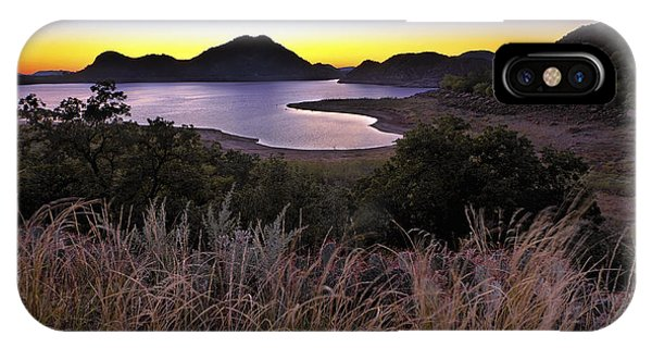 Sunrise Behind The Quartz Mountains - Oklahoma - Lake Altus IPhone Case