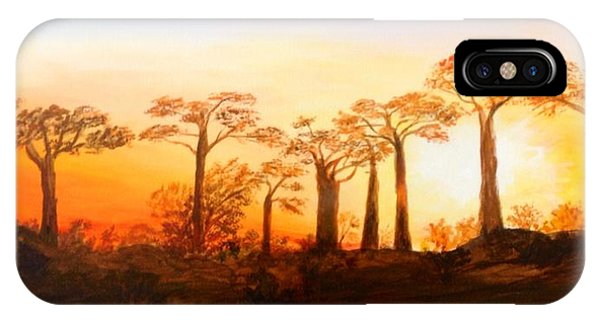Sunrise Boab Trees IPhone Case