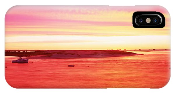 Chatham iPhone Case - Sunrise Chatham Harbor Cape Cod Ma Usa by Panoramic Images