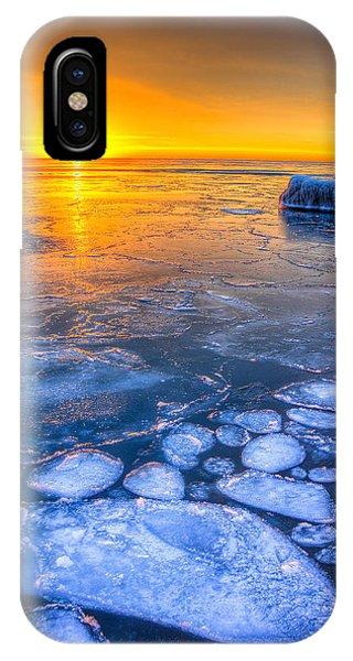 Sunrise Chicago Lake Michigan 1-30-14 02 Phone Case by Michael  Bennett